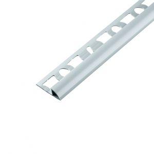 Ukončovací PVC lišta s přep. 7 mm/2,5 m světle šedá
