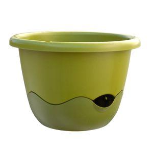 Samozavlažovací závěsný květináč MARETA průměr 30, světle zelená + tmavě zelená