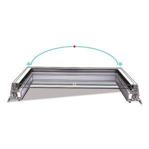 Střešní světlík plochý křídlo pevné izolační sklo DEKLIGHT A=80x130
