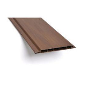 Obkladová plastová palubka 100x9 mm, 3 m, tmavé dřevo