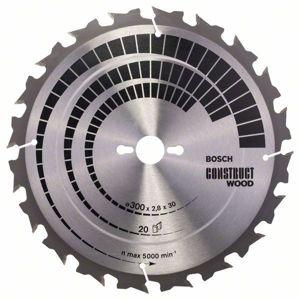 Kotouč pilový Bosch Construct Wood 300×30×1,8 mm 20 z.