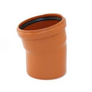 KGB koleno pro kanalizační potrubí DN 160 mm, úhel 15° , barva oranžová