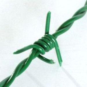 Ostnatý drát z pozinkované oceli, s PVC vrstvou, délka v balení 100 m