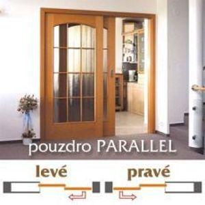 Dvojité dveřní pouzdro Norma PARALLEL 1450 do zdiva pro posuvné dveře
