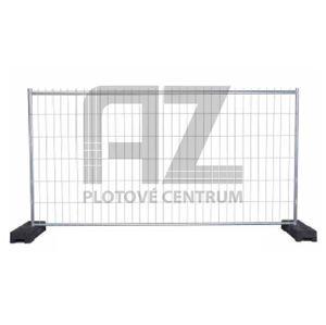 Mobilní plotový panel F2 z pozinkované oceli, šířka 3455 mm, výška 2000 mm