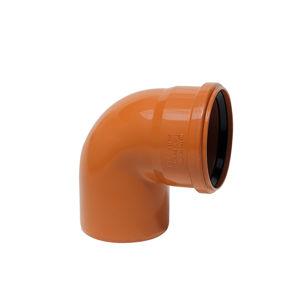 KGB koleno pro kanalizační potrubí DN 110 mm, úhel 45° , barva oranžová