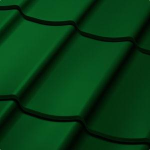 Velkoformátová profilovaná plechová střešní krytina SATJAM TREND SP25 RAL 6005  tmavě zelená