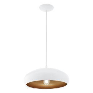 Závěsné svítidlo MOGANO 1 E27 bílá/měděná