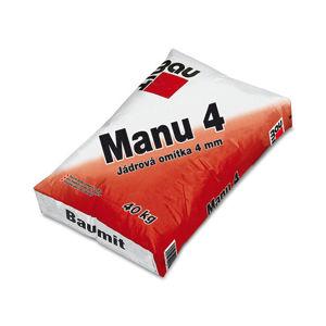 Vápenocementová jádrová omítka Baumit Manu 4, vnitřní i vnější použití 40kg.