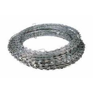Žiletkový pozinkovaný drát (spirála) průměr vinutí 450 mm rozvinutá délka 8 m