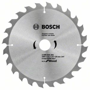 Kotouč pilový Bosch Eco for Wood 230×30×1,8 mm 24 z.