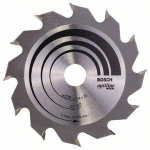 Kotouč pilový Bosch Optiline Wood 130×20/16×1,4 mm 12 z.