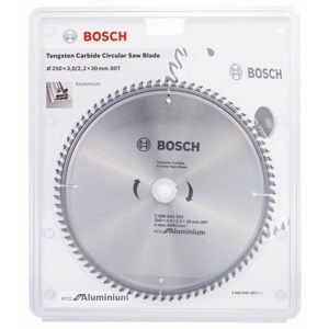 Kotouč pilový Bosch Eco for Aluminium 250×30×2,2 mm 80 z.
