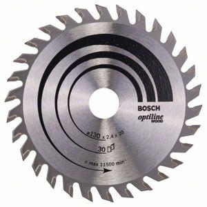 Kotouč pilový na dřevo Bosch Optiline Wood 130×20/16×2,4 mm, 30