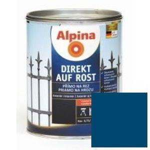 Lak na kov Alpina Direkt A Rost 750 ml lesk modrá RAL5010