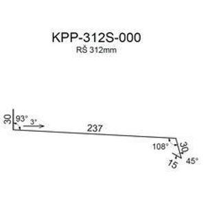 Ohýbaný lakovaný parapet RS312S-30 PU50 MR539 0,50mm 2bm