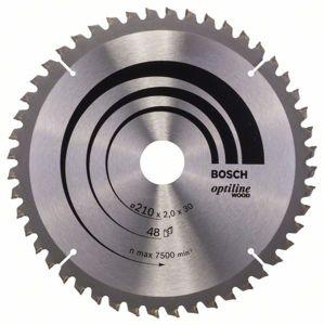Kotouč pilový Bosch Optiline Wood 210×30×1,4 mm 48 z.