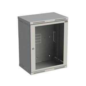 Rozvaděč datový 19'' SENSA 15U 400 mm, skleněné dveře