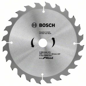 Kotouč pilový Bosch Eco for Wood 190×22,23×1,4 mm 24 z.